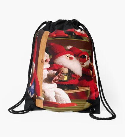 Season greetings to all! Drawstring Bag