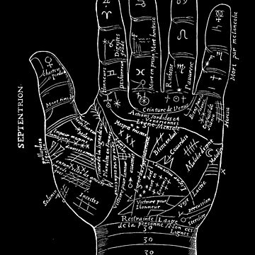 PALMISTRY : Vintage Occult Palm Reaing Advertising Print by posterbobs