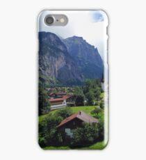 Quaint Swiss Alps town iPhone Case/Skin