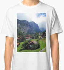 Quaint Swiss Alps town Classic T-Shirt