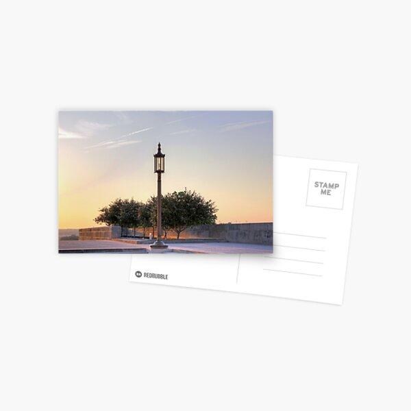 Lamp Post, Evening Light Postcard