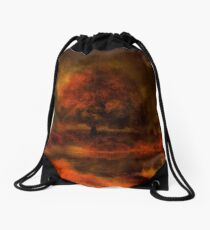 Reflections Under a Copper Sky Drawstring Bag