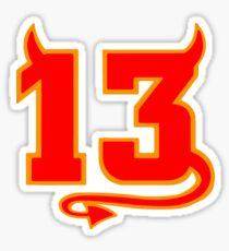 Glücklicher Teufel 13 Sticker