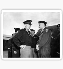 Eisenhower and General Lucius Clay - Berlin - 1945 Sticker