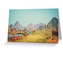 Geometric Enjoy Nature Greeting Card