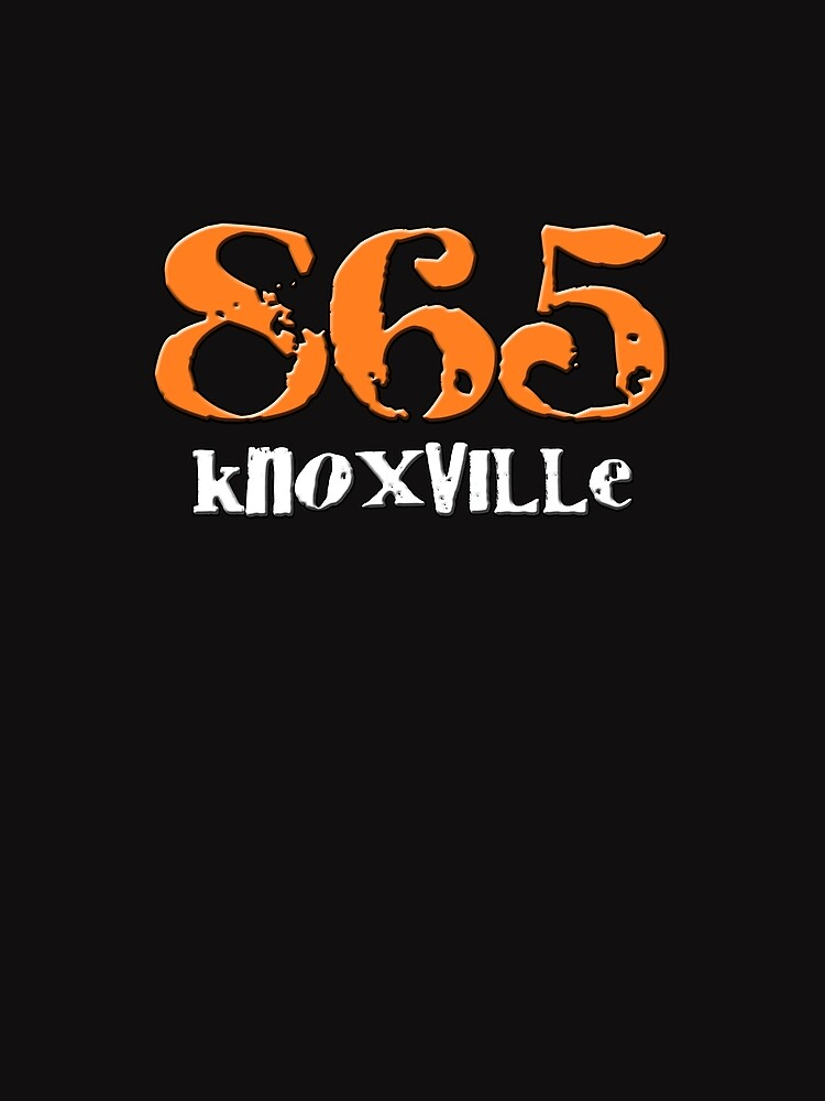 Knoxville TN Tennessee 865 Area Code Hometown Volunteers Orange White |  Graphic T-Shirt