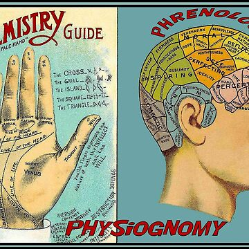 PALMISTRY PHRENOLOGY : Vintage Brain and Palm Reading Print by posterbobs