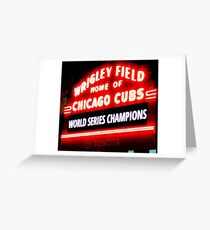 Cubs are Champs Greeting Card
