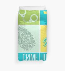 True Crime Junkie Duvet Cover