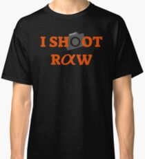 0324afd5f089c1 I SHOOT RAW (CAMERA) SONY ALPHA Classic T-Shirt