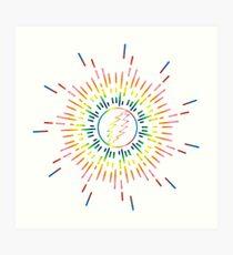 Lightning Bolt Sunburst Art Print