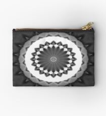 Gray Kaleidoscope Art 31 Studio Pouch