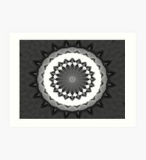 Gray Kaleidoscope Art 31 Art Print
