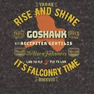 Rise and Shine! Goshawk Falconry Shirts and Gifts by Robert Diebold