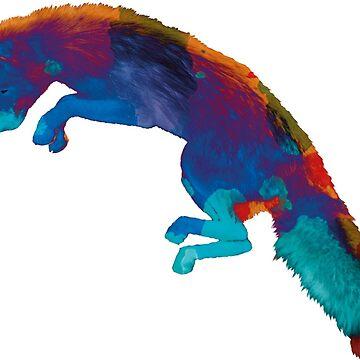 Rainbow Fox by Tessolate
