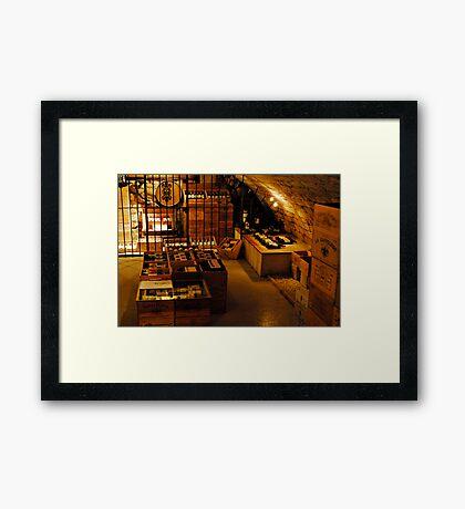 St Emilion Wine Cellar Framed Print