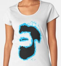 Man vector lightblue and black silhouette Women's Premium T-Shirt