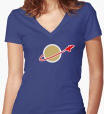 LEG0 SPACE SERENITY (FIREFLY) Women's Fitted V-Neck T-Shirt