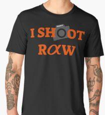 I SHOOT RAW MINI LOGO (Camera) Sony Alpha Men's Premium T-Shirt