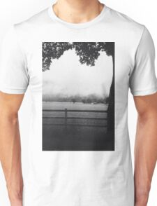 Black and white German countryside  Unisex T-Shirt