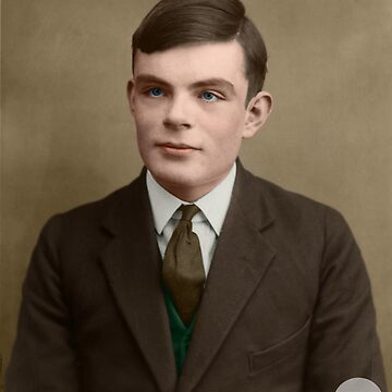 Alan Turing, 1927 - Colorized by Laurynsworld