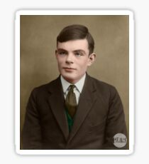 Alan Turing, 1927 - Colorized Sticker