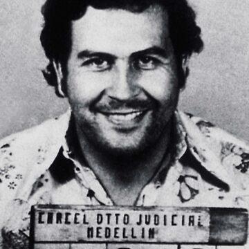 Pablo Escobar Mugshot by RubinoCreative