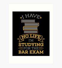 Lawyer funny studying bar examination tshirt gift Art Print