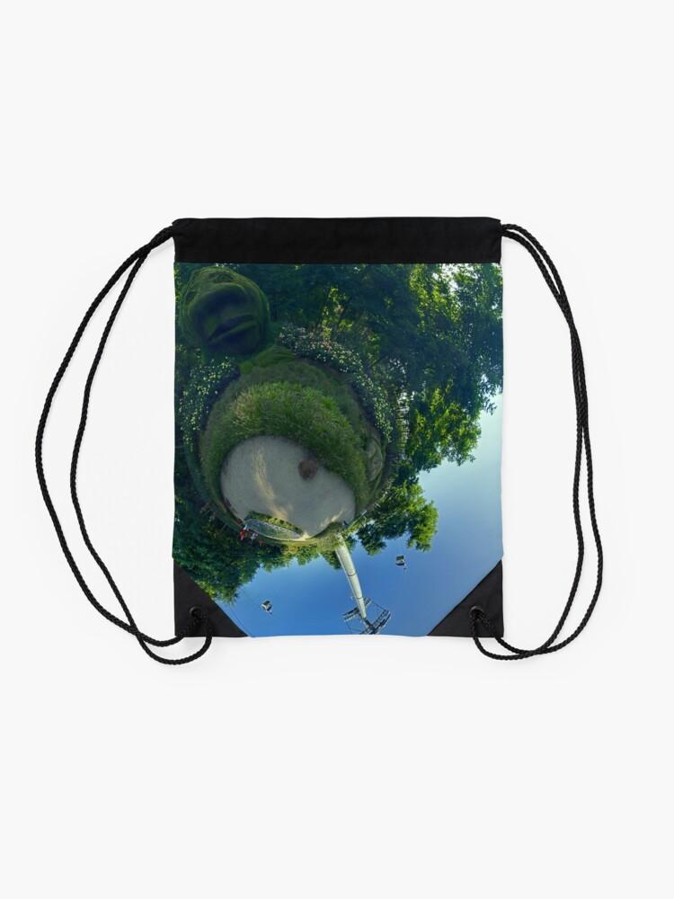 Alternate view of Earthy Head at Floriade 2012 Drawstring Bag