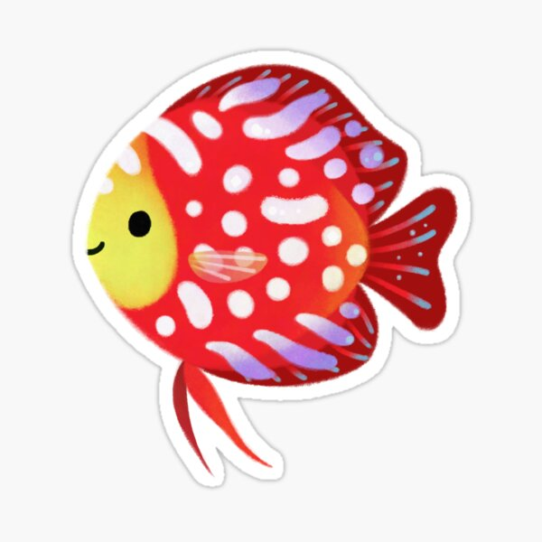 Red discus Sticker