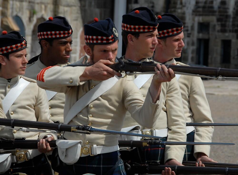 Guards at the Citadel, Halifax, Nova Scotia by Johannes  Huntjens