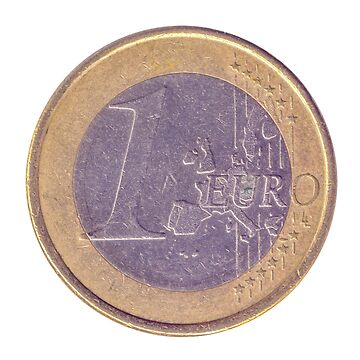 Gold and silver One Euro coin (Germany) by PhotoStock-Isra