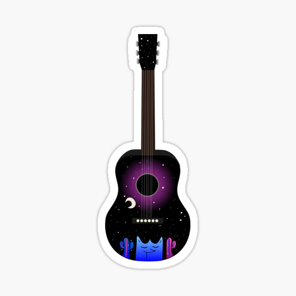 Harry Styles Two Ghosts Galaxy Guitar Sticker
