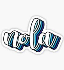nola blue Sticker