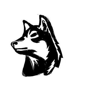 Wolf Head Mascot by mindovermattie