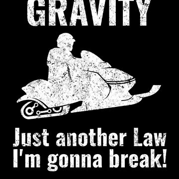 (tshirt) gravity snowmobile smaller (1) (light weathered) by EstelleStar