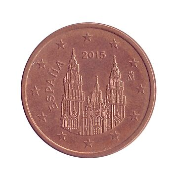 5 Euro Cents copper coin (Spain)  by PhotoStock-Isra