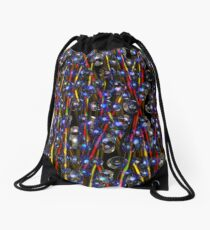 Neutron Rods Abstract from Valxart.com Drawstring Bag