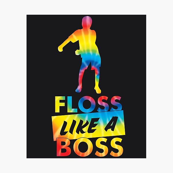 Tie Dye Floss Like A Boss - Flossing Dance Impression photo