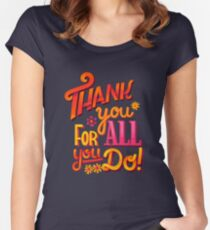 Thank you! Women's Fitted Scoop T-Shirt