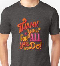 Camiseta unisex ¡Gracias!