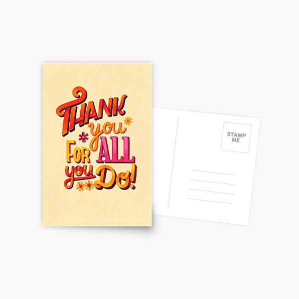 Thank you! Postkarte