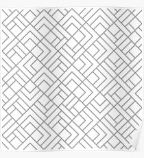 Abstract geometric fashion design print pattern Poster
