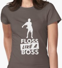 Floss Like A Boss - Flossing Dance Move Women's Fitted T-Shirt