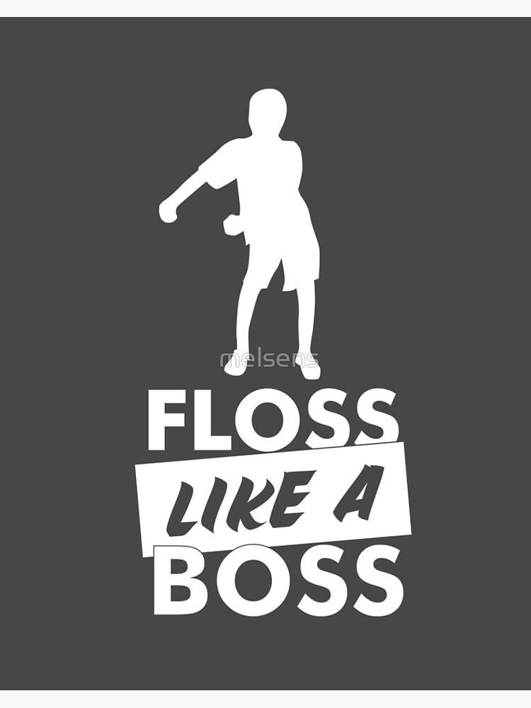 Floss like a boss Fortnite black and white game  happy birthday card greeting