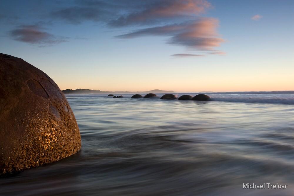 Moeraki Boulders. by Michael Treloar