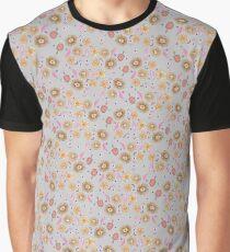 Boho Floral Bloom soft cream Graphic T-Shirt