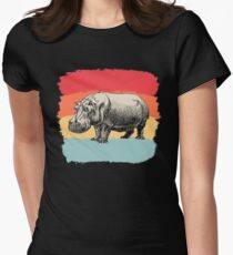 Hippo Women's Fitted T-Shirt