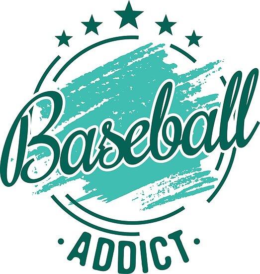 Baseball Addict T Shirt Best Cool Funny Nerdy Baseball Player