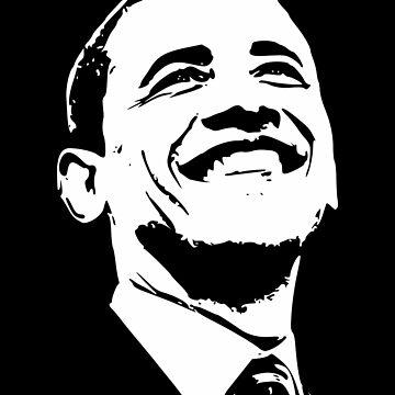 Barack Obama Smile Minimalistic Pop Art by idaspark